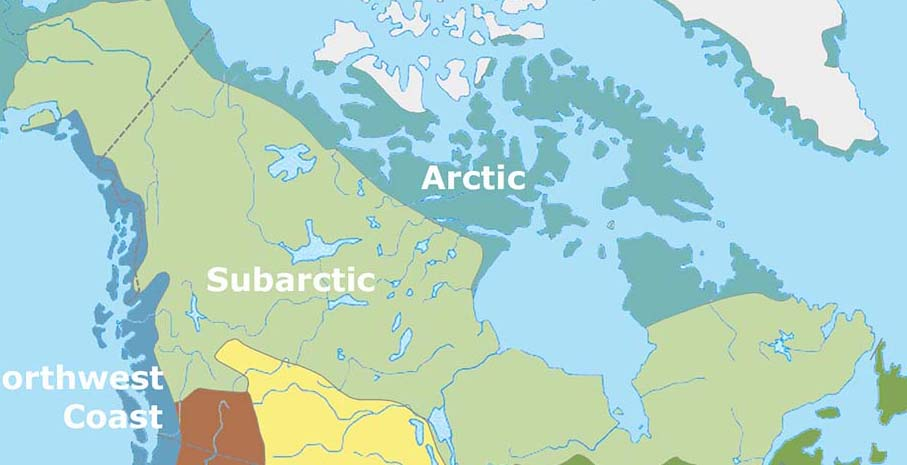 Subarctic Region Map